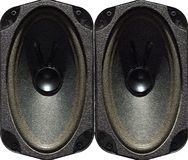 Speaker drivers isolated on white, textured picture imitation Stock Photo