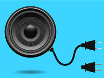 Speaker with electric plug Royalty Free Stock Photography