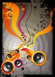 Speaker Explosion!. Music background vector with speakers Stock Images