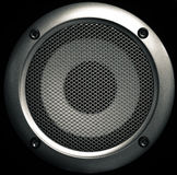 Speaker Face. Black and White profile picture of a speaker head Stock Photos