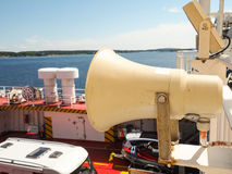 Speaker on ferry Royalty Free Stock Photos