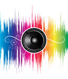 Speaker with floral ornament Stock Image