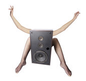 Speaker freaker Stock Photo