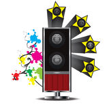The speaker give small beautiful mod Royalty Free Stock Image