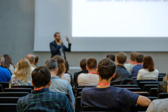 Speaker Giving a Talk at Business Meeting. Stock Photos