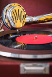 Speaker gramophone close up. View royalty free stock photo