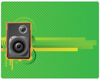 Speaker on green striped background. Royalty Free Stock Image