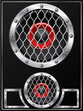 Speaker with grid design Stock Photo