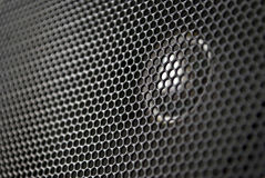 Speaker grille. Grille of speaker close-up horizontal photo Stock Photography