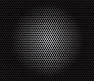 Speaker grille. Metal pattern on black background stock illustration