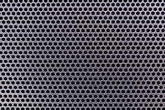 Speaker grille , on TV , Picture Macro Royalty Free Stock Image