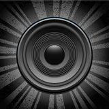 Speaker on grunge background Stock Image