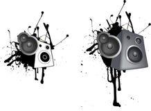 Speaker grunge illustration Stock Image