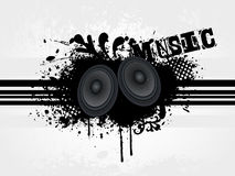 Speaker with grunge wave line Royalty Free Stock Photos