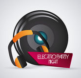 Speaker and headphone icon. Dance and Music design. Vector graph Stock Photo