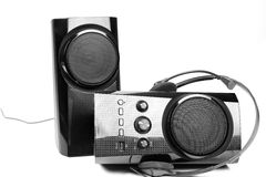 Speaker and headphones Royalty Free Stock Images