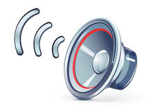 Speaker icon. Vector illustration of glass transparently speaker icon royalty free illustration