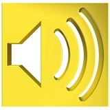 Speaker icon 3D Stock Photography