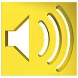 Speaker icon 3D. Speaker symbol 3D rendering on white background Stock Photography