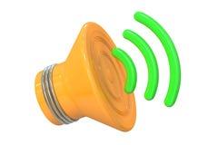 Speaker icon, 3D rendering Stock Images