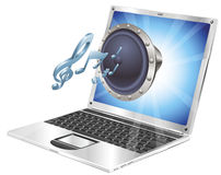 Speaker icon laptop concept Royalty Free Stock Photography