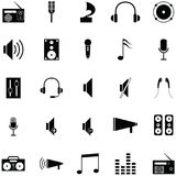 Speaker icon set. The speaker of icon set Stock Images