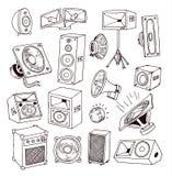 Speaker icon. Vector illustration. Stock Images