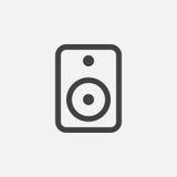 Speaker icon, vector logo, linear pictogram isolated on white, pixel perfect illustration. Speaker icon, vector logo, linear pictogram isolated on white, pixel stock illustration