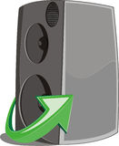 Speaker icon witn arrow sing Royalty Free Stock Image
