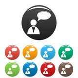 Speaker icons set vector simple Stock Photography