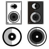 Speaker illustration. Speaker flat icon sound audio concept illustration Stock Photos