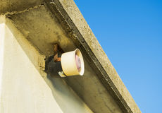 Speaker installed on a wall of a building Stock Photography