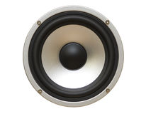 Speaker isolated on white. Clipping path, brightly lit royalty free stock photos