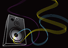 Speaker with lines Royalty Free Stock Photos