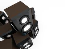Speaker, loudspeaker, woofer, speakerbox Stock Photography
