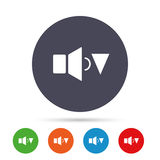 Speaker low volume sign icon. Sound symbol. Stock Photography