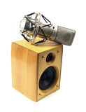 Speaker and microphone Royalty Free Stock Photo