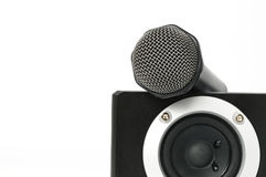Speaker and microphone Royalty Free Stock Photos