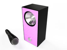Speaker and microphone, 3D Stock Photos