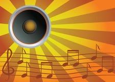 Speaker and music. Vector eps royalty free illustration