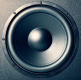 Speaker - music style. Photographical background Royalty Free Stock Image