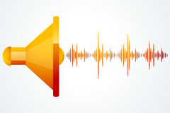 Speaker with music waves Royalty Free Stock Photos