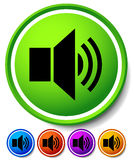 Speaker, notification icons. Speaker, Alarm Icon for Audio, Musi Royalty Free Stock Photo