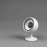 Speaker on pedestal over grey Royalty Free Stock Photo