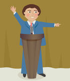 Speaker at the Podium Royalty Free Stock Photography