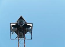 Speaker post. Two pair on tall speaker post Stock Image