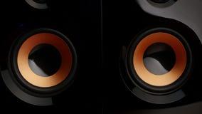 Speaker pumping. Speaker system. Sub woofer. Closeup stock footage