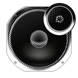 Speaker from the radio. stock images