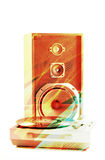 Speaker and record player Royalty Free Stock Photo