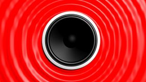 Speaker with red abstract Royalty Free Stock Photo